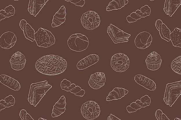 パン屋さんのシームレスパターン
