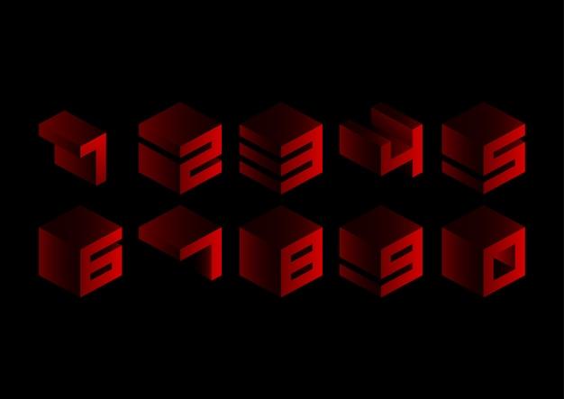 Набор красных кубических геометрических чисел