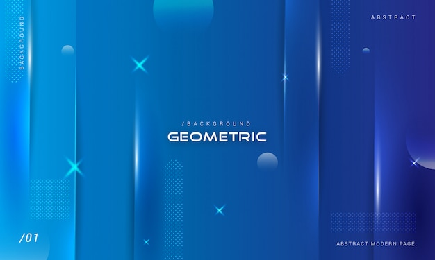 Геометрическая синяя полоса фон