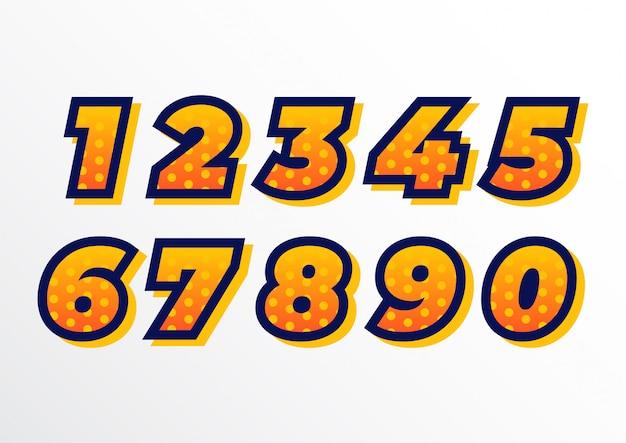 装飾されたスポーティな遊び場番号セット
