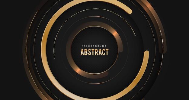 ゴールドの抽象的な技術の背景