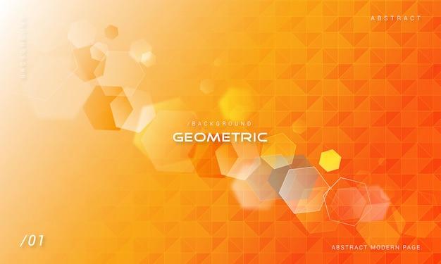 Оранжевый геометрический фон многоугольной