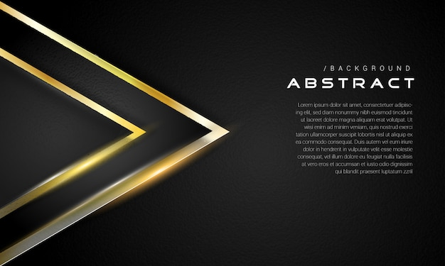 ダークゴールドのエレガントな三角形の背景