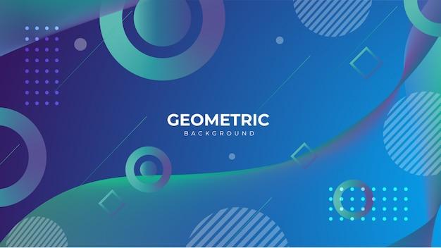 幾何学的なグラデーションの抽象的な背景