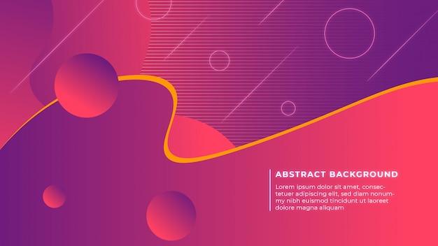 紫ピンクの背景を持つ現代の抽象的な形