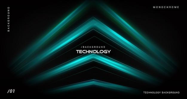Синий фон технологии с геометрической формой