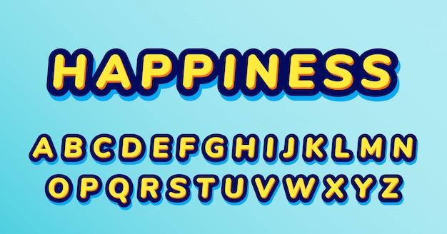 Повседневный забавный округлый набор украшенных шрифтов