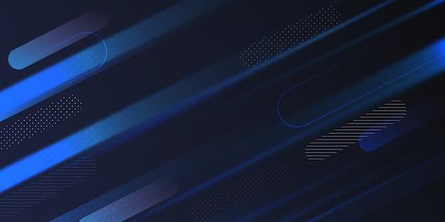 Темно-градиентный синий геометрический фон формы