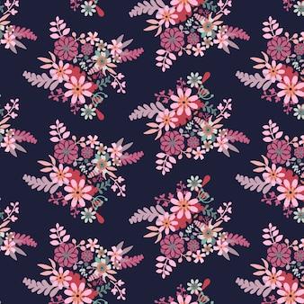 花のシームレスなパターン背景