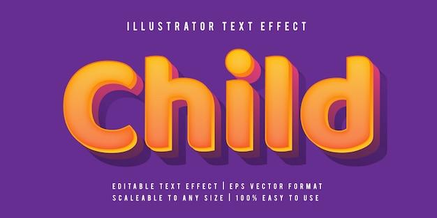 Игривый детский текстовый эффект