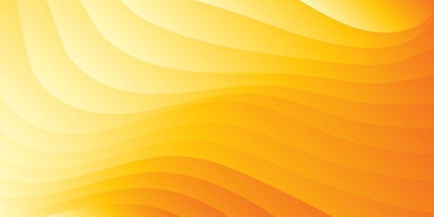Абстрактный минималистский оранжевый волнистый градиентный фон