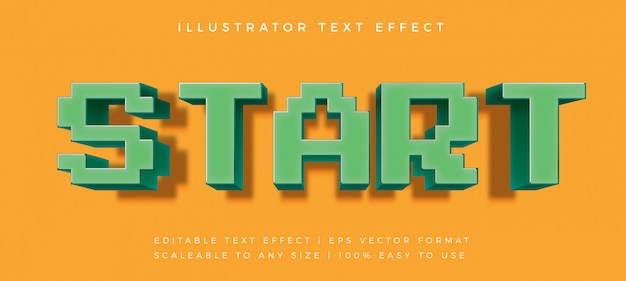 ピクセル化されたゲームプレイフルテキストスタイルのフォント効果
