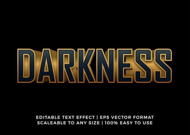Темно-золотой редактируемый текстовый эффект