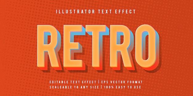 Ретро красочный эффект текста