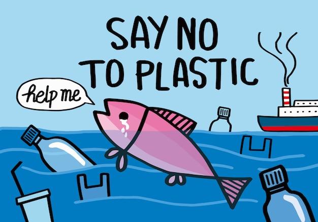 プラスチックにノーと言う。