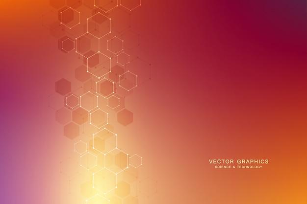 六角形からの幾何学的な背景。