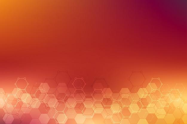 六角形と抽象的な背景