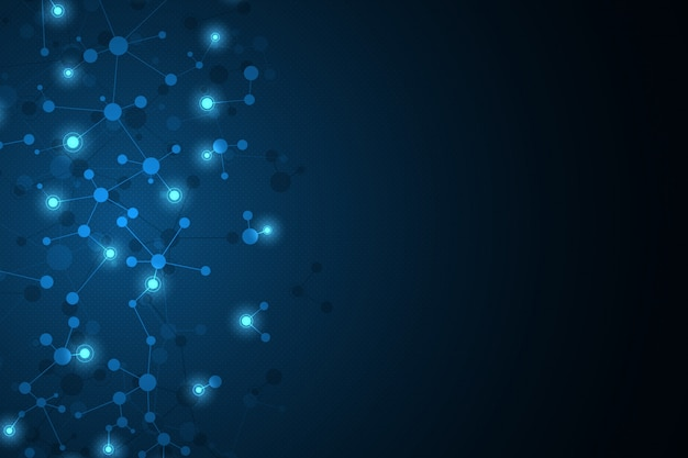 Абстрактный фон с молекулой днк