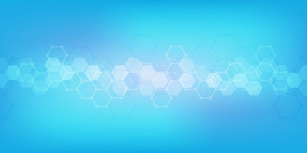 分子構造と化学工学の幾何学的な背景テクスチャ