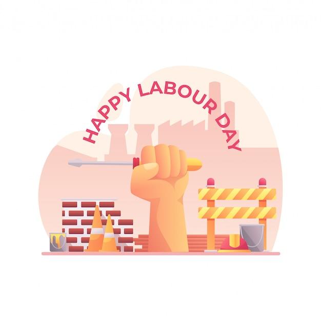 ハッピー労働者の日グリーティング