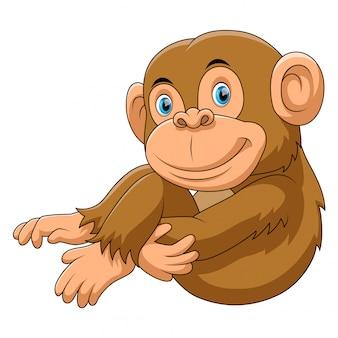 猿座っている漫画
