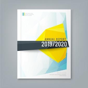 企業のビジネス年次報告書表紙のパンフレットチラシポスターのための抽象低多角形の背景