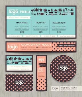 Шаблон дизайна меню ресторана