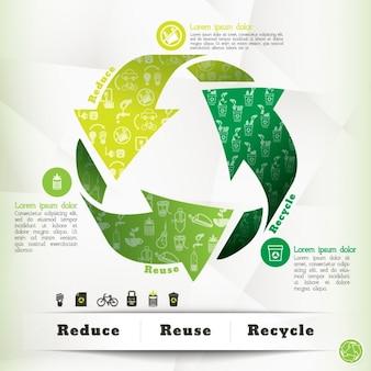 エコロジーインフォグラフィックテンプレート