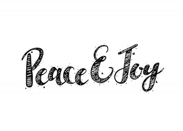 心を持つ平和と喜びベクトルの手紙
