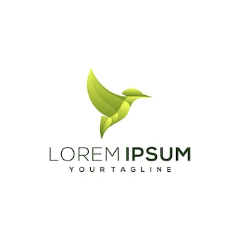 Лист птицы градиент логотип