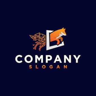 Оранжевая лиса логотип