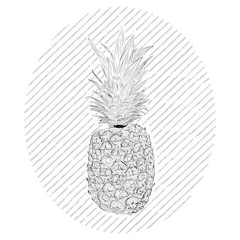 白のパイナップルの彫刻