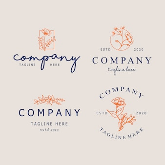 トレンディな線形の最小限のスタイルで抽象的なロゴデザインテンプレート。化粧品、ジュエリー、美容、手作り製品のシンボル