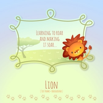 動物の話、かわいいライオン
