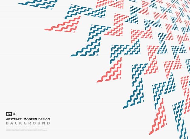 Абстрактный красный и синий треугольник современного фона шаблона.