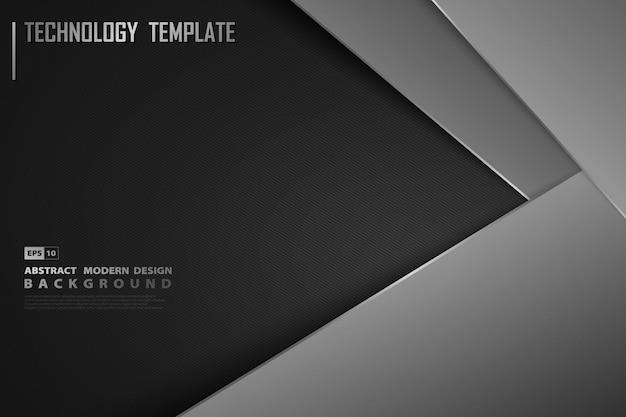 Абстрактный современный градиент черный шаблон фона украшения.