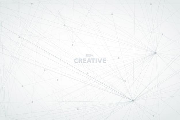 Абстрактный дизайн линии технологий фона электронных соединений.