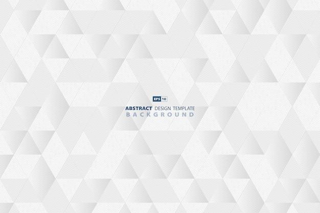 Абстрактная линия технологий шаблон треугольник бизнес дизайн фона.