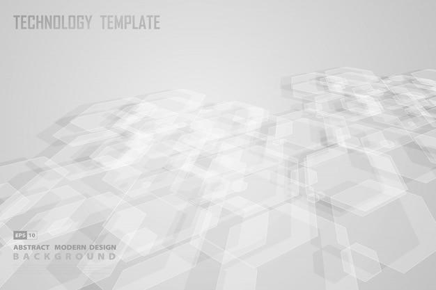 未来的なデザインの装飾的な背景の抽象的な六角形デザイン。