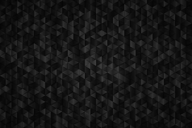 三角形の幾何学的な背景の抽象的な金属ブラック。