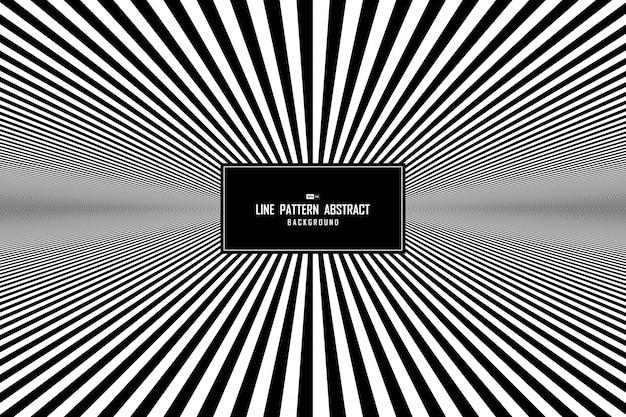 抽象的な線の黒と白の最小限の背景。