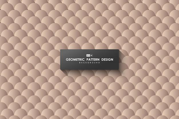Абстрактный коричневый круг шаблон технологий дизайна художественного произведения декоративного фона.