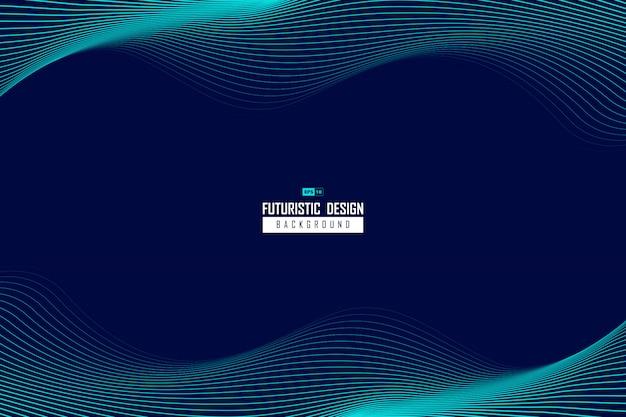 Абстрактная волнистая голубая линия дизайн технологии шаблон движения фона.