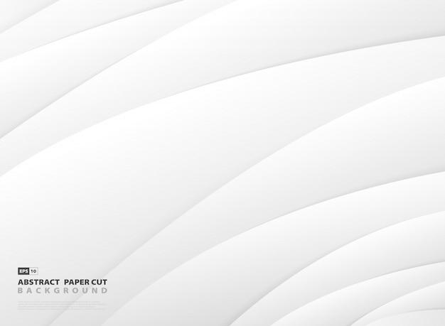 抽象的なグラデーショングレーと白のストライプラインパターンデザインの背景。