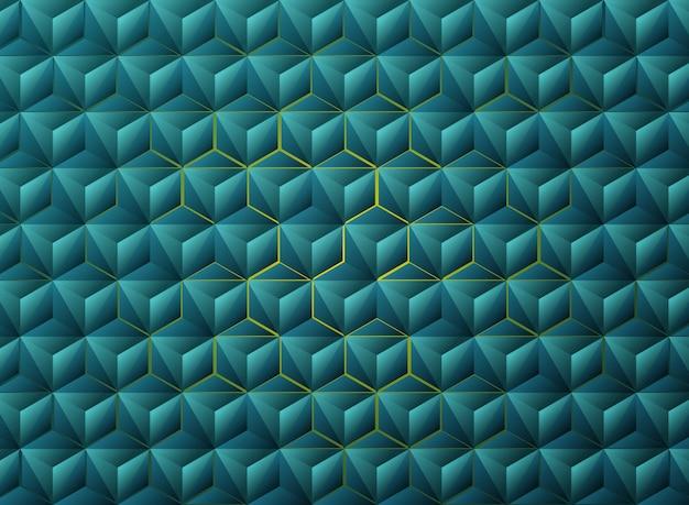 抽象的なグラデーションブルーの三角形の幾何学的なハイテクデザイン。