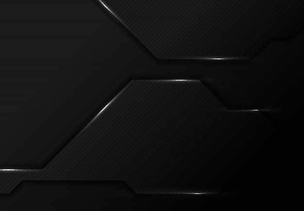 Абстрактный черный дизайн технологии тек фон с белыми блестками.