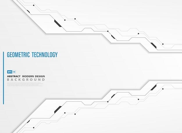 Абстрактная современная технология белый фон шаблона