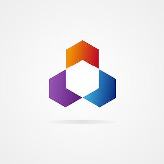 抽象的な六角形のデザイン
