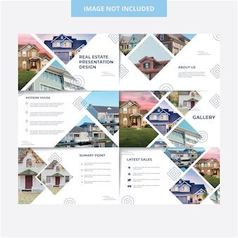 家の外観のプレゼンテーションテンプレートデザイン