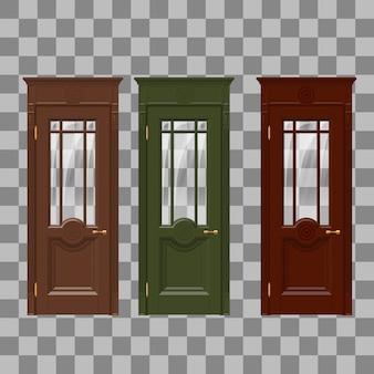 赤黄青のドア